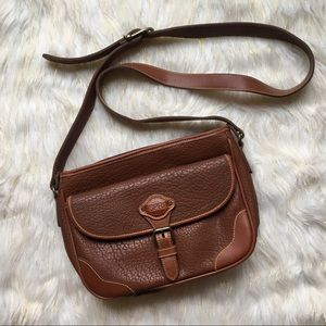 Esprit Brown Leather Large Crossbody Bag